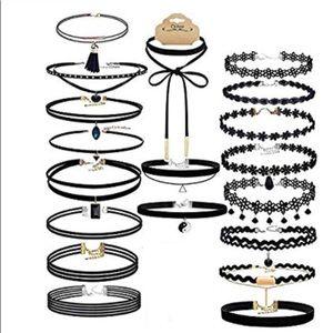 Choker Set Of 20 Pcs Black Choker Necklace